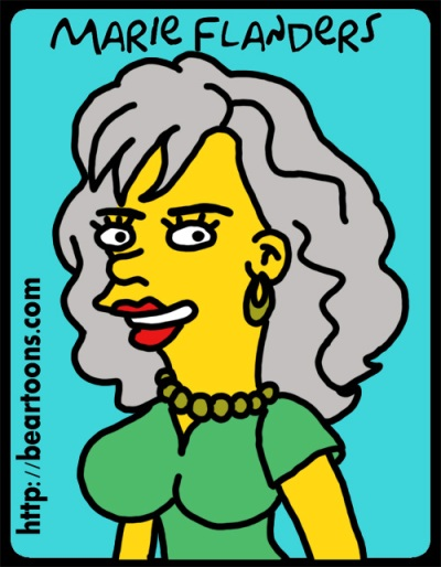 Marie Flanders on The Simpsons