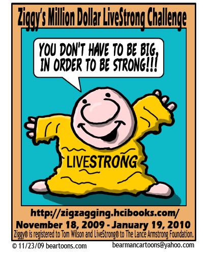 Ziggy Million Dollar LiveStrong Challenge Fan Art by Bearman